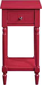 Convenience Concepts French Country Khloe Accent Table, Cranberry Red