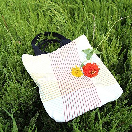Canvas Jutebeutel B Taschen Baumwolle Frauen Yiuswoy Strandtaschen Handtaschen Modell Bag Mädchen Schultertasche Freizeittasche qHInFwRS