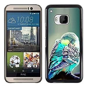Be Good Phone Accessory // Dura Cáscara cubierta Protectora Caso Carcasa Funda de Protección para HTC One M9 // bird green exotic tropical green feather