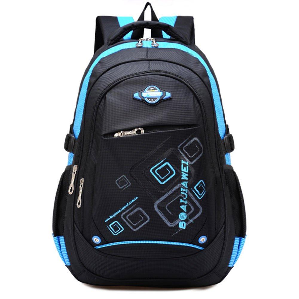 Ellien学校バックパックforボーイズ、防水Bookbags for Kids子供学生を(ブルー)   B07BHPDFP6