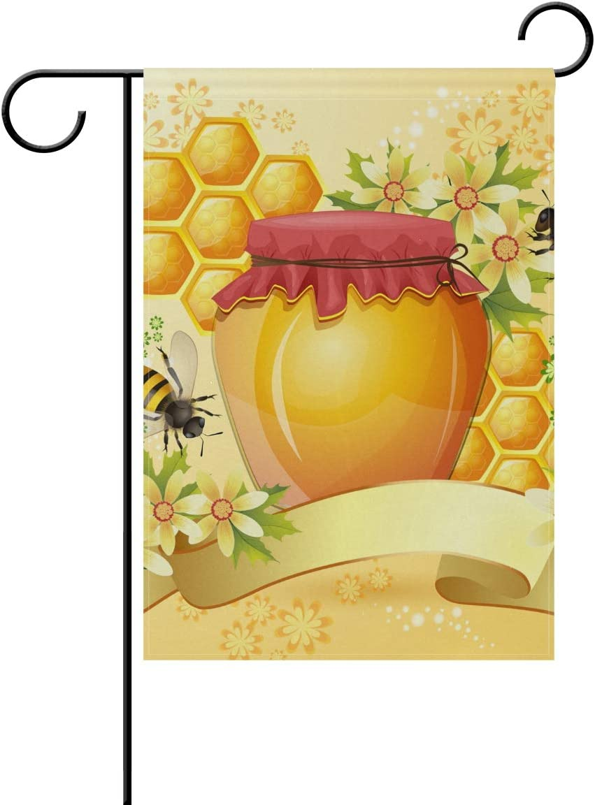 Amazon.com : Hulahula Honey Yellow Garden Flag Banner Decoration