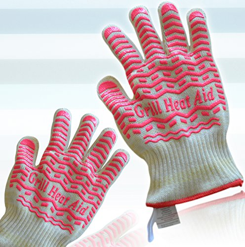 Triple Layer Design For Steam, Heat & Flame Resistant For Maximum Safety - Set of 2 Premium Light-Weight & Flexible Gloves -Versatile Than Oven Mitts & Pot Holders (Oven Mitts For Small Hands compare prices)