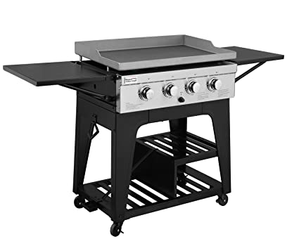 be7e36349d9 Image Unavailable. Image not available for. Color  Royal Gourmet Regal  GB4000 4 Burner Propane Gas Grill Griddle ...