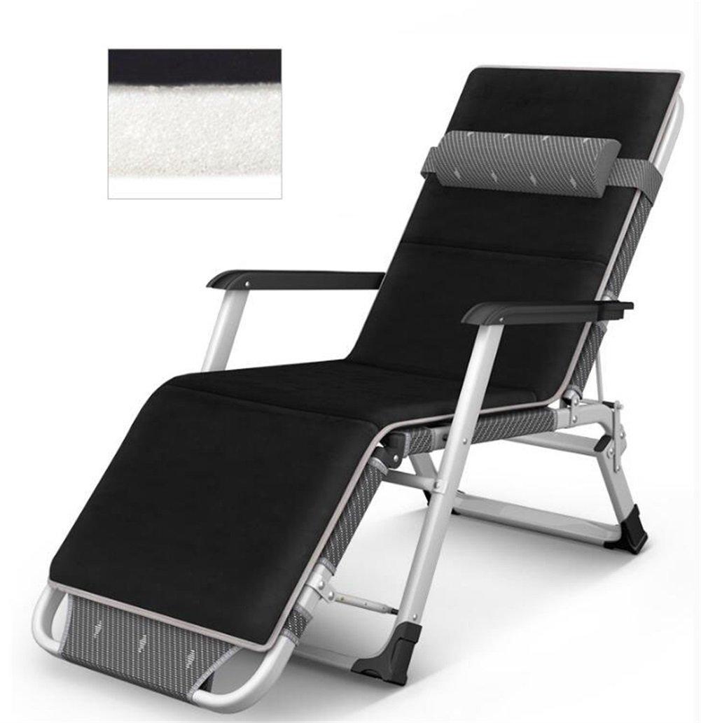 H-WJ Mode Klapptisch und Stuhl Portable Office Lunch Bett Siesta Bett Metall Skeleton Klapp Computer Stuhl Sitz