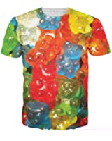 AKind New New t Shirt Fashion Brand Clothing Qute 3d Bear Candy Printed Tshirt Homme Hot