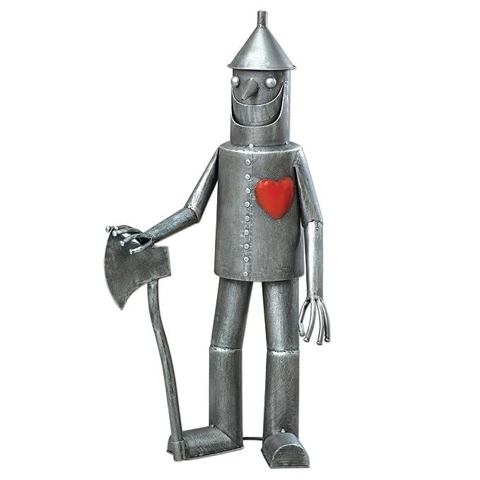 Bits and Pieces-Steadfast Tin Woodman with a Heart Garden Sculpture-Garden Décor Tin Man Yard Art - Garden Statue - Statue Measures 30-1/2