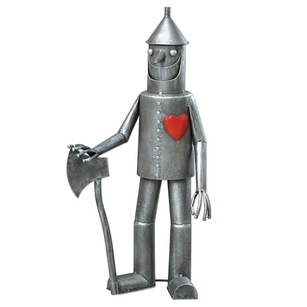 Bits and Pieces-Steadfast Tin Woodman with a Heart Garden Sculpture-Garden Décor Tin Man Yard Art - Garden Statue - Statue Measures 30-1/2'' Tall x 14'' Wide