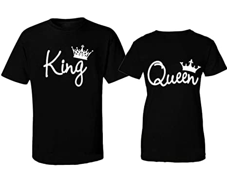 Black Women's Queen Fashion At Shirts Amazon And King Crowns T UqGSMzVpL