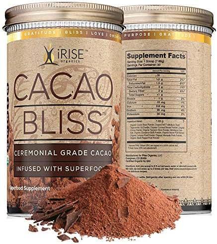 Cacao Bliss: Superfood Powder - 30 Day Supply - Organic Superfood Supplement - Raw Cacao Superfood - Boosts Metabolism - Satisfies Chocolate Cravings - Vegan