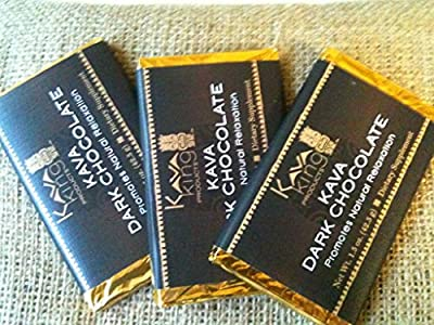 Kava King Dark Chocolate Bar -- 1.5 Oz 3 Pack