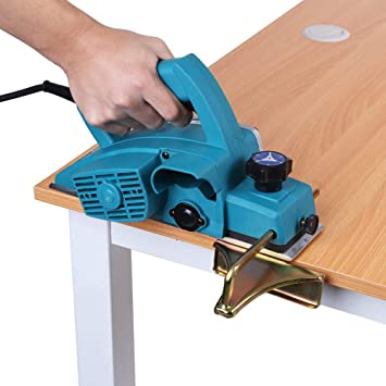 Cocoarm Electric Power Planer 800W Portable Electric Wood Planer Hand Held Woodworking Power Plane DIY Tool Kit with Socket Spanner and Guide Ruler for Home Furniture 220V 13000 RPM
