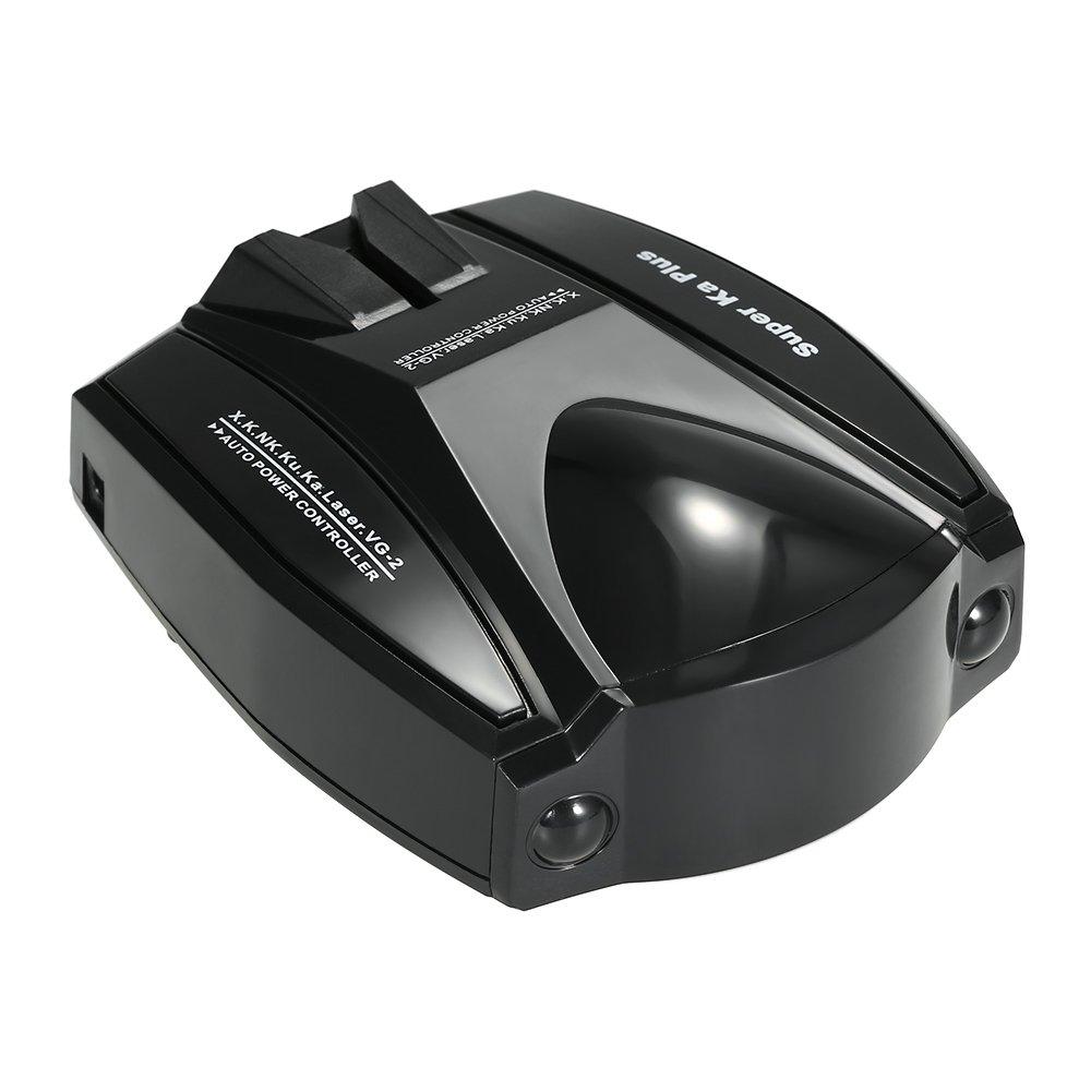 KKmoonレーダー探知機6バンドLED表示アンチレーダー検出器音声アラート速度警告英語バージョン B07B9V8T2R