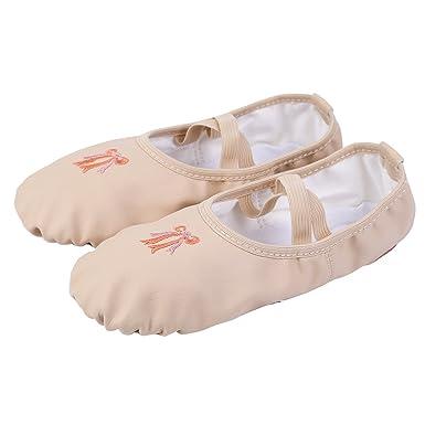 Freebily Zapatillas para Niña Zapatos de Danza Ballet Gimnasia para Niña Confortables Antideslizantes: Amazon.es: Ropa y accesorios