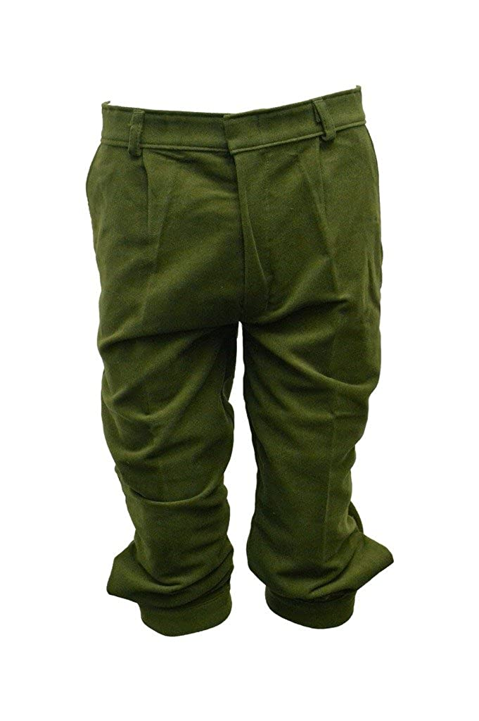 Walker and Hawkes 'Hombre Rodillera Cintura Pantalones de algodón de molesquín–para la Caza Adecuado–Verde Oliva–Tamaños 32hasta 38
