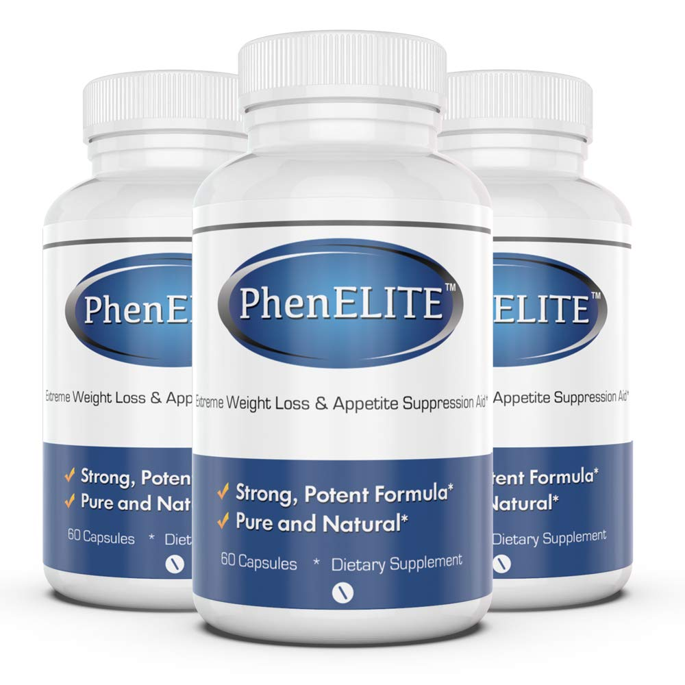 PhenELITE Weight Loss & Appetite Suppressant: Belly Fat Burner & Diet Supplement Pill with Apple Cider Vinegar, Raspberry Ketones & Green Tea Extract - Boost Energy & Concentration - 180 Capsules by Phenelite