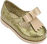 Mini Melissa Kids' Mini Classic Baby Ii Mary Jane Flat,Gold Glass Glitter,8 Regular US Toddler