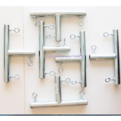 "6pc - 3 way ""T"" SHAPED 3/4"" CANOPY FITTING (FTA) ~ 3/4"" Pipe Canopy Part : Garden & Outdoor"