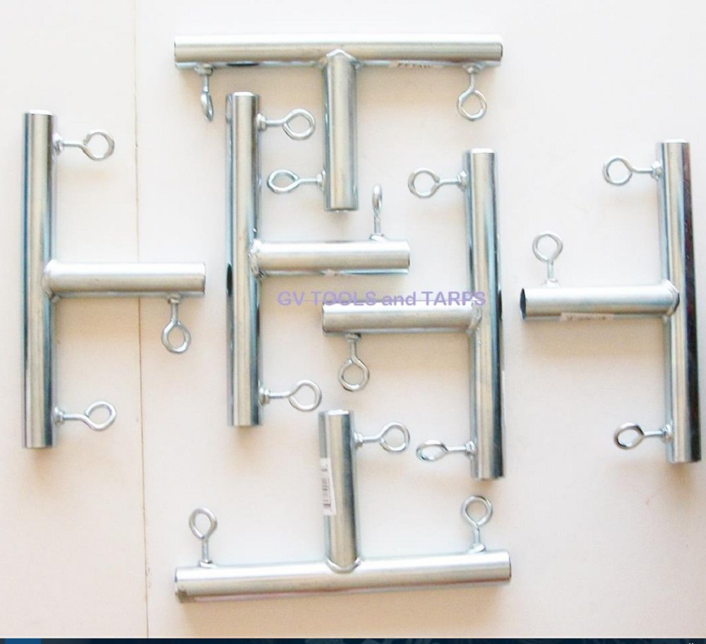 6pc - 3 way ''T'' SHAPED 3/4'' CANOPY FITTING (FTA) ~ 3/4'' Pipe Canopy Part