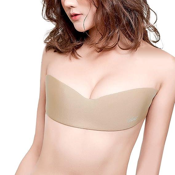 Gempack - Sujetador Adhesivo Invisible, Sujetador Push Up Sin Tirantes ni Espalda, Sujetador Autoadhesivo de una Sola Lámina Para Mujeres Sexis: Amazon.es: ...