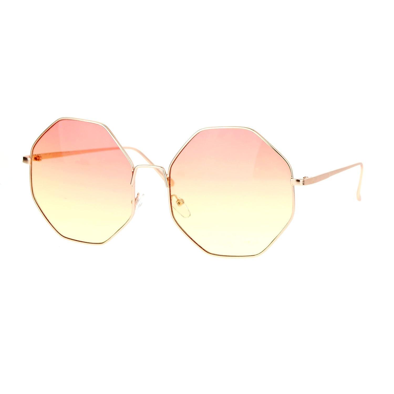 a982d60aa5a Amazon.com  Womens Sunglasses Octagon Shape Metal Frame Gold