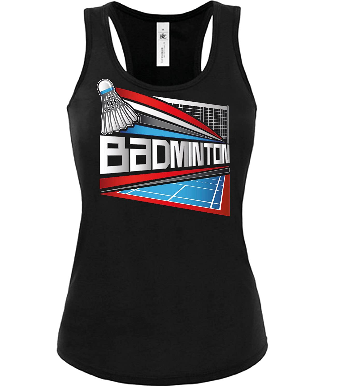 Badminton Fanshirt Frauen Damen Fun Tank Top Funshirt Tanktop Sportbekleidung Fanartikel Shop Shirt Tshirt