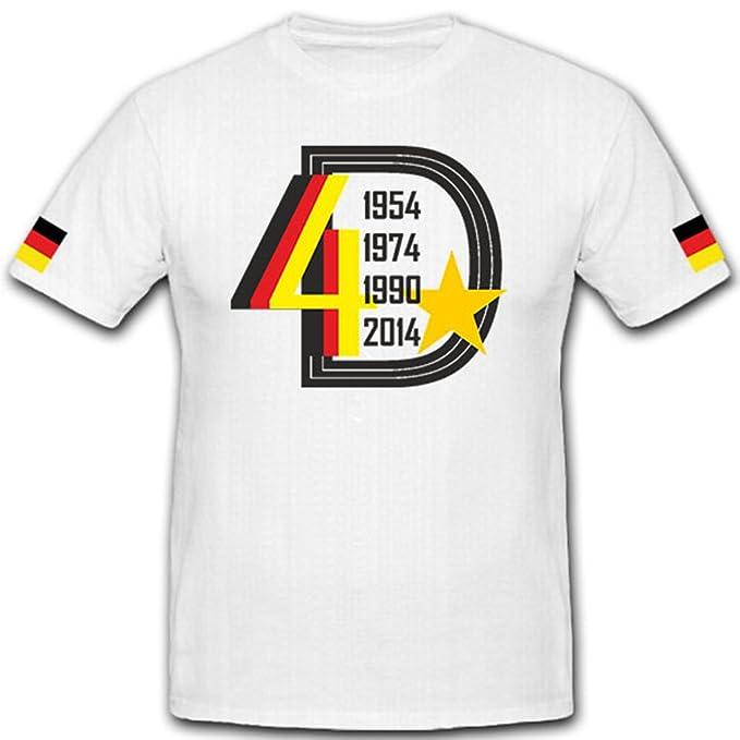 La Estrella De 4 2014 Campeones del Mundo Alemania fútbol Fan Fútbol 1954 1974 1990 2014