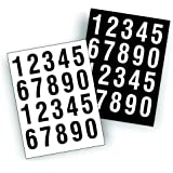 Sheets Of Decals - USDOT Numbers Great To Number Boat Or Truck 2 of each number per sheet - Black And White, 2 inch tall