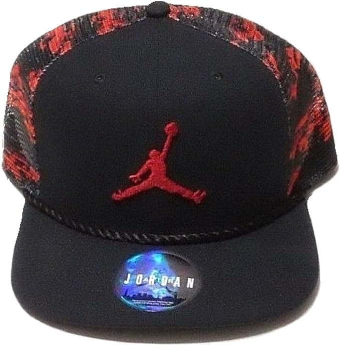 Nike Jordan Jumpman del Hombres Camuflaje Trucker Gorra Rojo/Negro ...