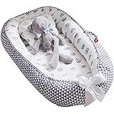 Babynest, Sharing Co, sovdräkt, 100 % mjuk bomull, mysig bebissäng, premiumkvalitet och större storlek, andas…