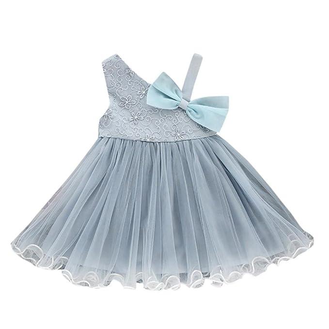 vestidos de niña, ASHOP Vestido de bowknot de encaje floral fuera del hombro vestidos de fiesta princesa niña Vestido de Tutú casual vestido de verano Ropa ...