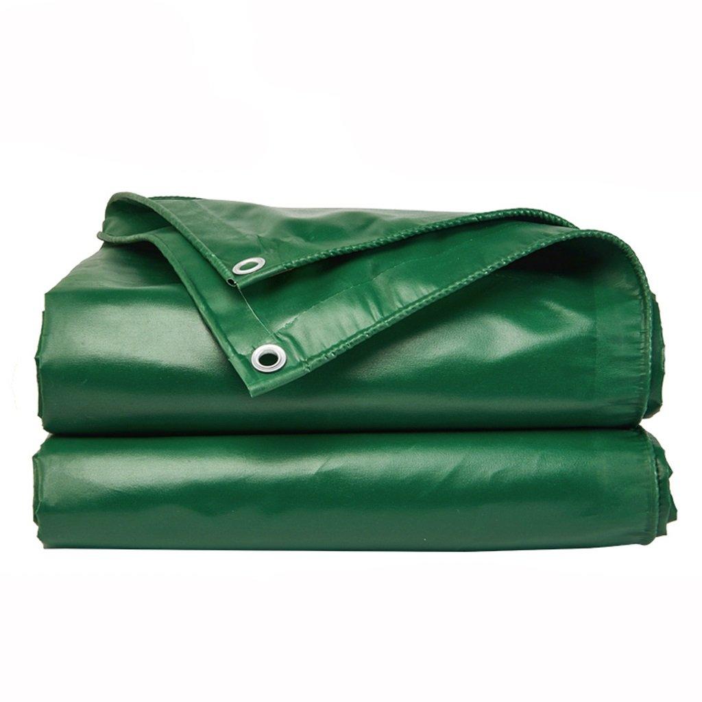 シェード布防水日焼け止めターポリン屋外キャンバス肥厚ターポリンターポリン (色 : Green, サイズ さいず : 6*4m) B07F5KNTFS 6*4m|Green Green 6*4m