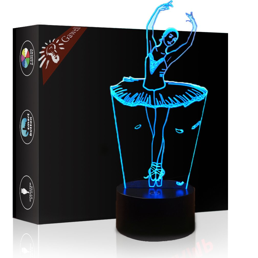 Ballet Dancer Girl 3D Illusion Lamp Night Light