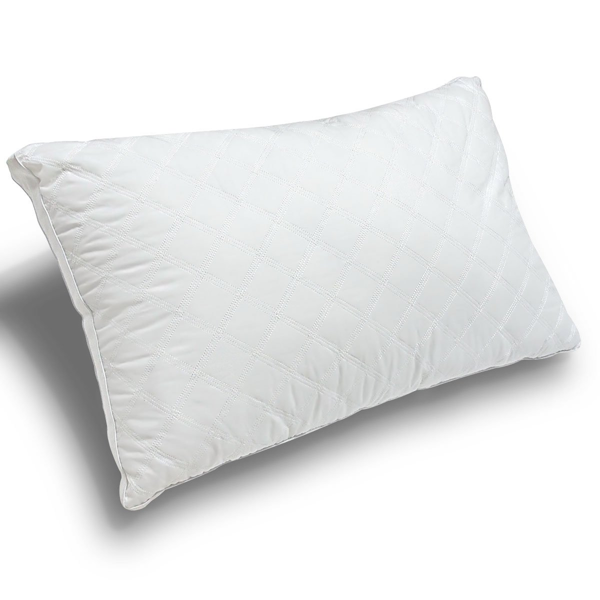 Cotton Bed Pillow,Soft & Comfortable Antibacterial & Anti-mite Pillow-128 individual ''small pillows''support the head, Cotton(20x30x1.5'') ,White,Land City