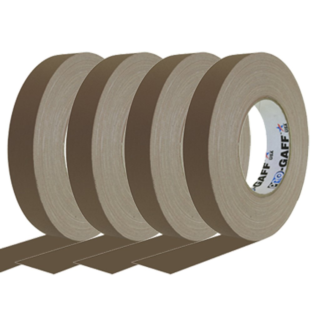 "1/"" x 55yd 1 Roll Brown Pro Gaff Pro Tapes Gaffers Tape"