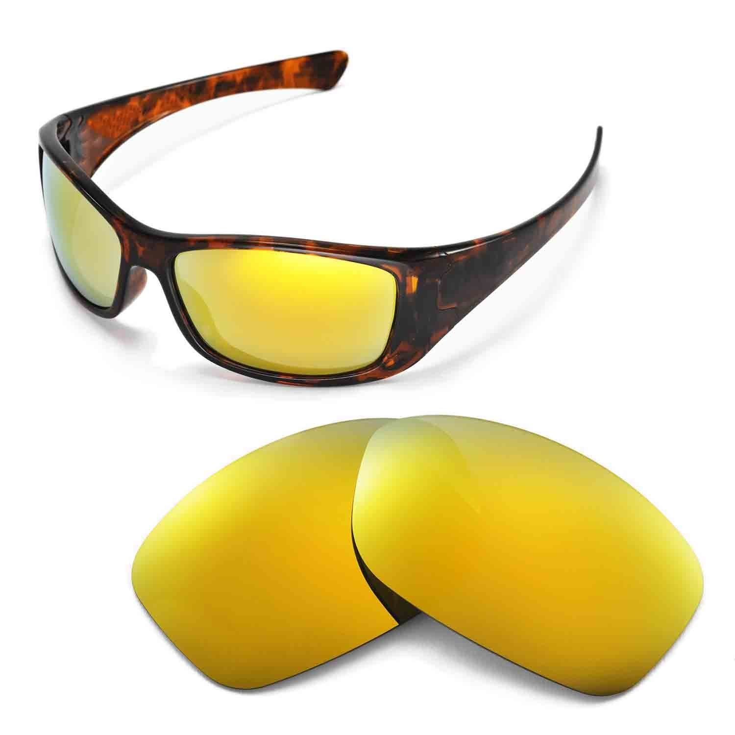 f434fb9709 Walleva Replacement Lenses for Oakley Hijinx Sunglasses - Multiple Options  Available (24K Gold Mirror Coated - Polarized) at Amazon Men s Clothing  store