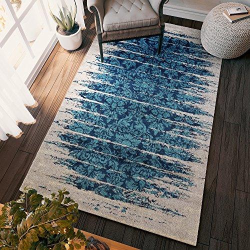 aqua colored rug - 9