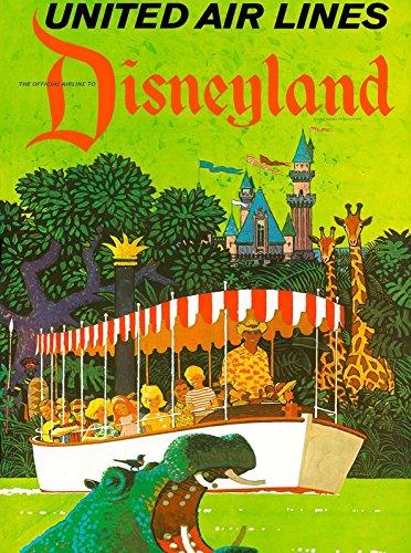 MAGNET Anaheim Disneyland United Airlines Jungle Vintage Travel Advertisement Magnet