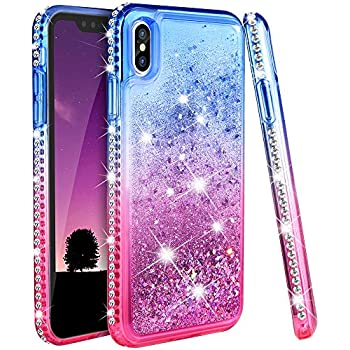 the best attitude dc95b 2a979 Ruky iPhone Xs Max Case, iPhone Xs Max Case for Women, Glitter Liquid  Floating Bling Diamond Colorful Quicksand Series Soft TPU Protective Case  for ...