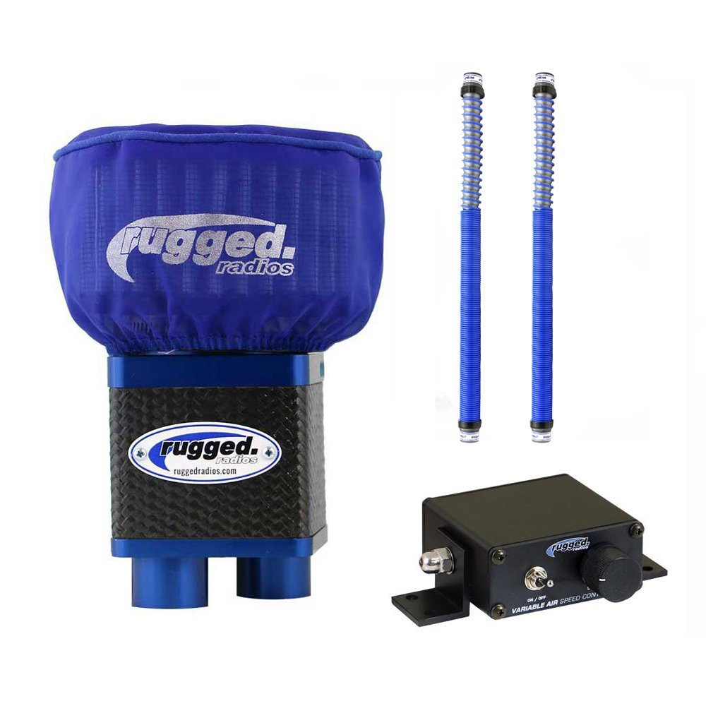 Rugged Radios MAC3.2-Bundle M3 Extreme Air Dual Helmet Pumper System with 2 Expandable Hoses and Variable Speed Controller