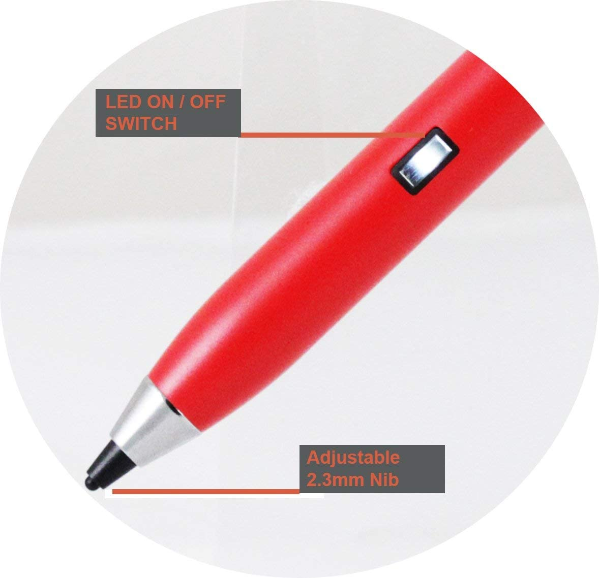 Broonel Red Fine Point Digital Active Stylus Pen Compatible with The LG Gram 2 in1 14T990