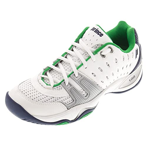 8fed78cd1f31 Prince T22 White Navy Green Tennis Shoes  Amazon.ca  Shoes   Handbags