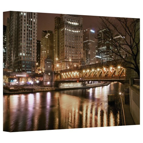 ArtWall 'Chicago-Michigan Avenue Bridge' Gallery Wrapped Canvas Art by Dan Wilson, 16 by ()