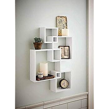 Amazon Com Greenco Decorative 4 Cube Intersecting Wall