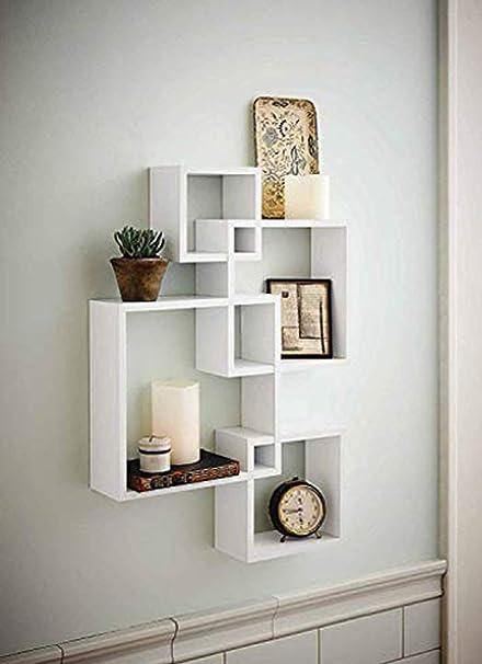 Amazon.com: Shelving Solution Intersecting Decorative White Color ...