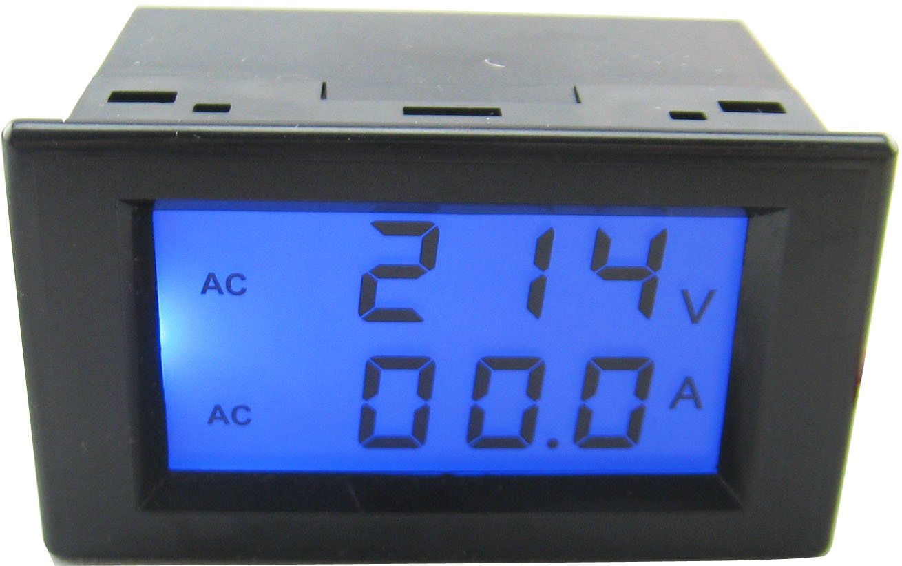 Yeeco Lcd Dual Display Ac 200 450v 100a Digital Voltmeter Ammeter 5 Volt Ttl Voltage Monitor Amp Panel Meter Current 220v 380v Ampere Power