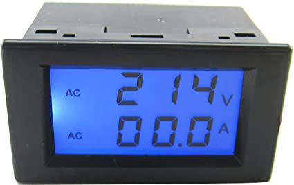 Digital Amp Meter Panel : Yeeco lcd dual display ac 200 450v 100a digital ac voltmeter ammeter