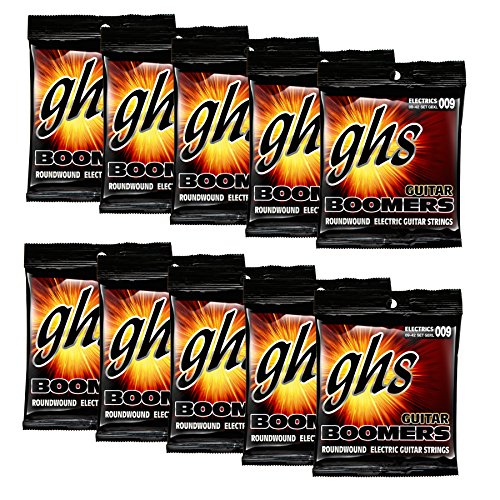Ghs Accessories (GHS Strings GHS Boomers Roundwound Electic Guitar Strings Extra Light GBXL 10 Pack (9-42))