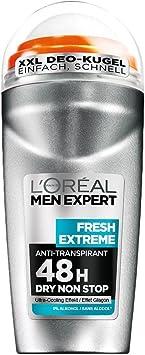 LOréal Men Expert Desodorante Roll-On Fresh Extreme, 6er Pack (6 x 50 ml): Amazon.es: Belleza