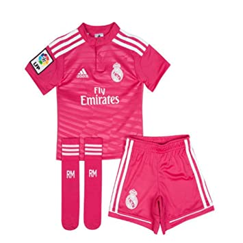 premium selection c447e ad99c adidas Performance REAL MADRID AWAY MINIKIT Pink Junior Football Soccer  Jersey Climacool