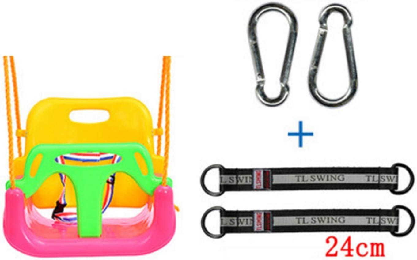 GHKWXUE El Columpio del hogar Interiores y Exteriores de Tres-en-uno for niños Columpio for niños Juguetes al Aire Libre jardín Colgante de Carga Cuerda Silla de bebé 400 kg (Color : C)